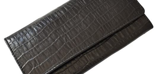 Genuine Leather Classic Ladies Purse, Proudly hand-crafted/Made in South Africa- Embossed Printed Genuine Leather