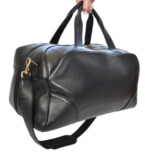 Genuine Leather Large Premium Travel Duffel Bag, Handcrafted in South Africa