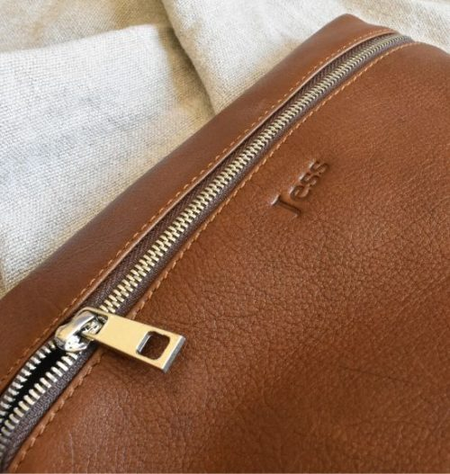 Genuine Leather Toiletry:Cosmetic Bag Made in South Africa