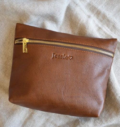 Genuine Leather Toiletry:Cosmetic Bag Made in South Africa11