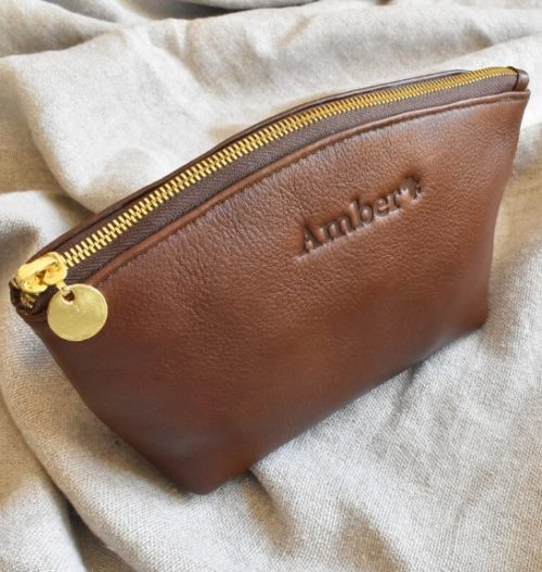 Genuine Leather Toiletry:Cosmetic Bag Made in South Africa9