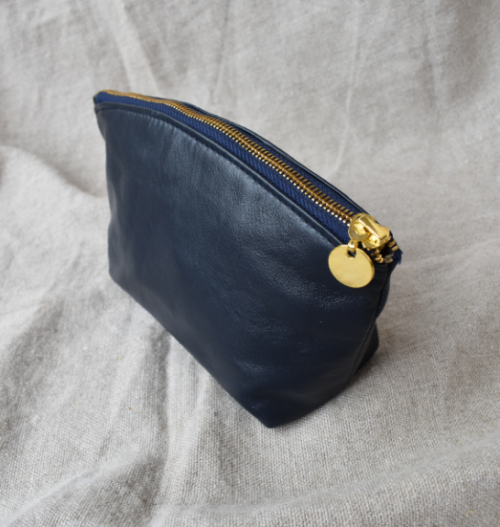 Genuine Leather Royal Navy Luna Cosmetic Bag- Made in South Africa
