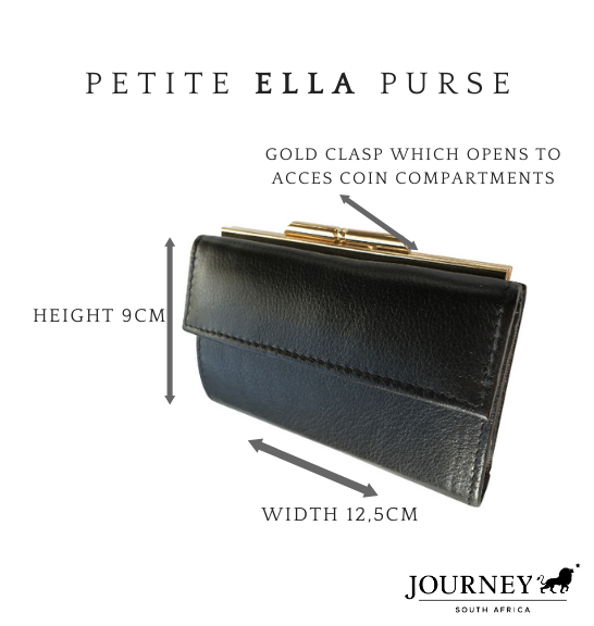 Genuine Leather Ladies Ella Purse. Proudly handcrafted in South Africa by Journey Leather