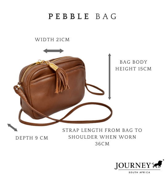 Genuine Leather Pebble Bag. Proudly handcrafted in South Africa by Journey Leather