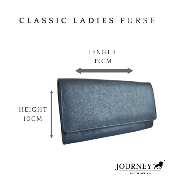 Genuine Leather Classic Ladies Purse Proudly made in South Africa