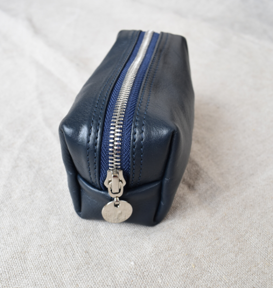 Small Loaf Cosmetic Bag, Made in South Africa Genuine Leather with personalisation2