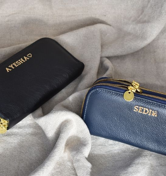 Genuine Leather Double Zip Purse- Made in South Africa