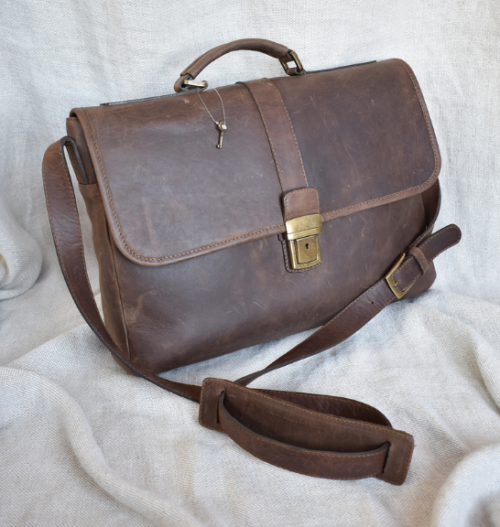 Genuine Leather Laptop Bag Made in South Africa with personalisation