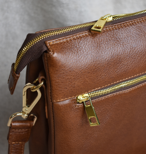 Genuine leather Double Crossbody Bag Made in South Africa