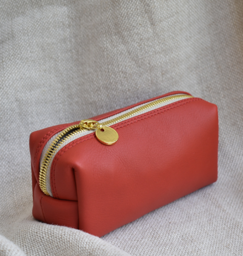 Scarlet Red Genuine Leather Small Loaf Bag Made in South Africa