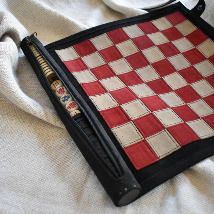 Genuine Leather Chess Set- Handcrafted in South Africa Games Classic Black with Personalisation