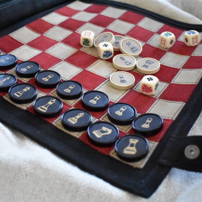Genuine Leather Chess Set- Handcrafted in South Africa Games Classic Black with Personalisation6