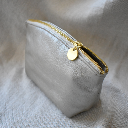 Genuine Leather Shimmer Gold Luna Bag1