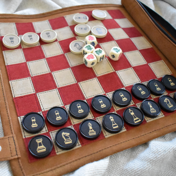 Genuine Leather Chess Set- Handcrafted in South Africa Games Tan Brown with Personalisation