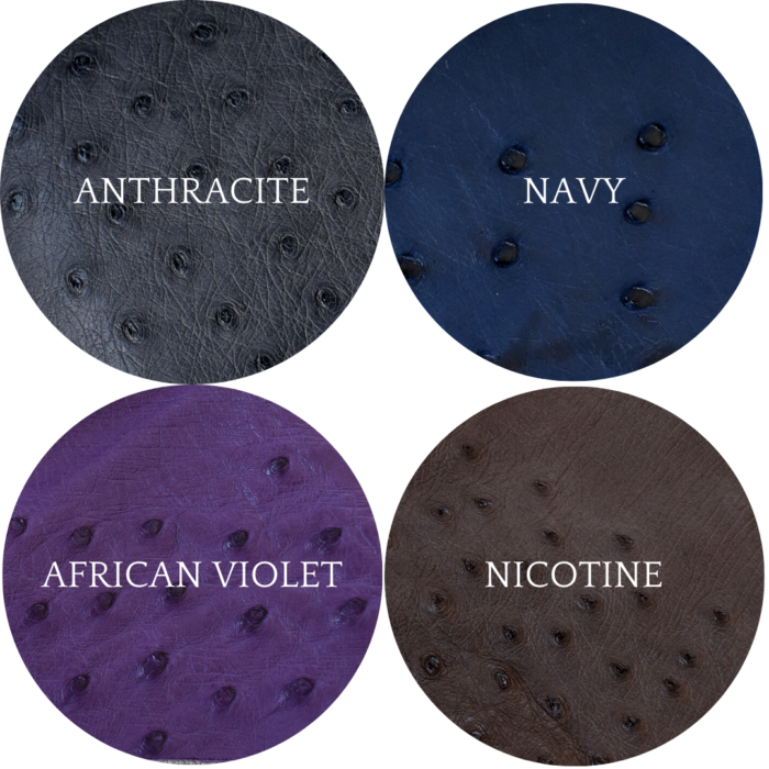 Journey Leather- Genuine Ostrich Colours Made To Order In South Africa