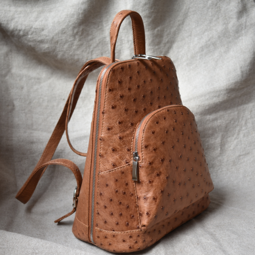 Journey Leather- Genuine Ostrich Leather Backpack- Made To Order In South Africa