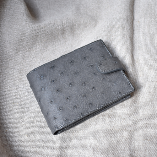 Journey Leather- Genuine Ostrich Leather- Bifold Wallet with coin pocket & Cardslots Cardholder -Made To Order In South Africa