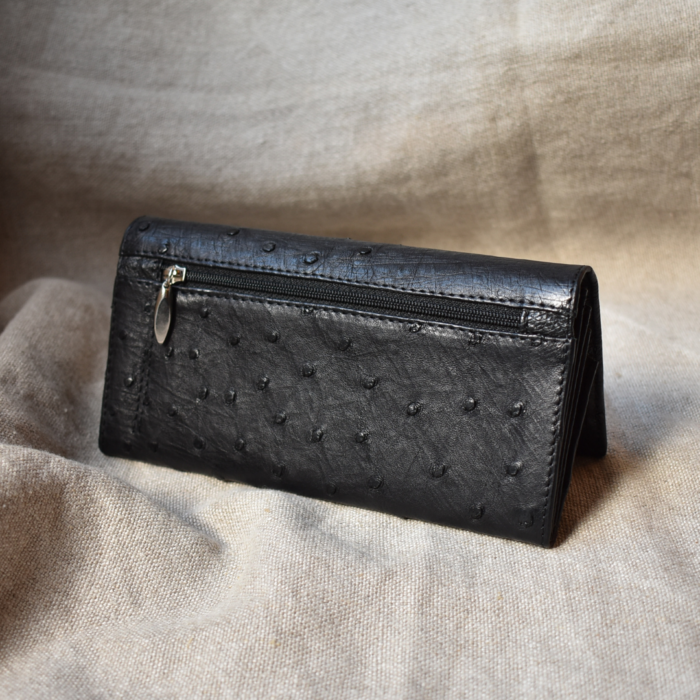 Journey Leather- Genuine Ostrich Leather Classic Ladies Purse- Made To Order In South Africa