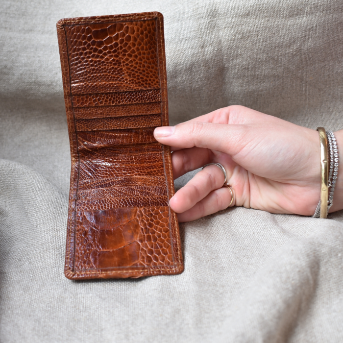 Journey Leather- Genuine Ostrich Leather- Luxe Cardholder -Made To Order In South Africa