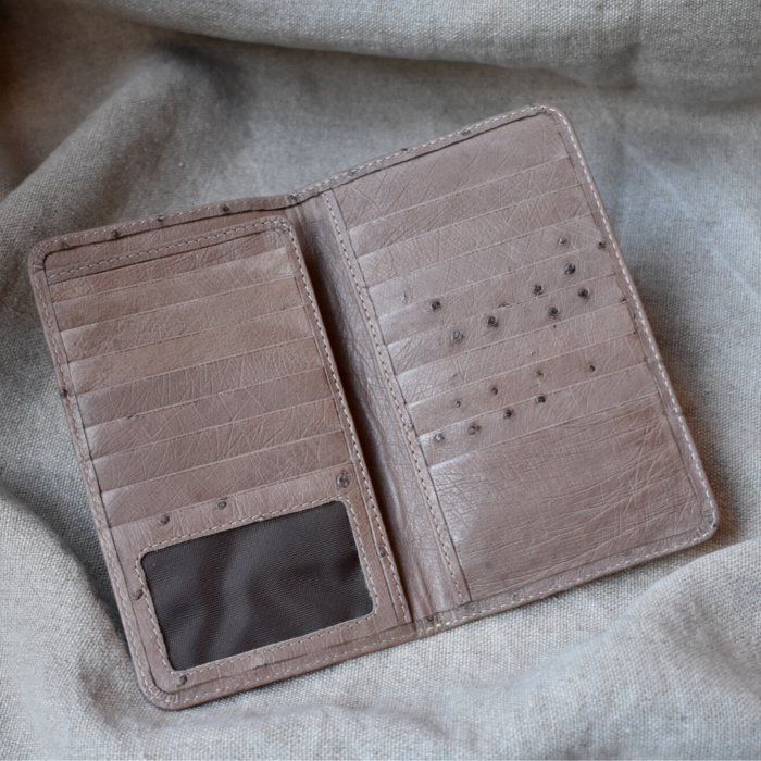 Journey Leather- Genuine Ostrich Leather-Passport Wallet -Made To Order In South Africa