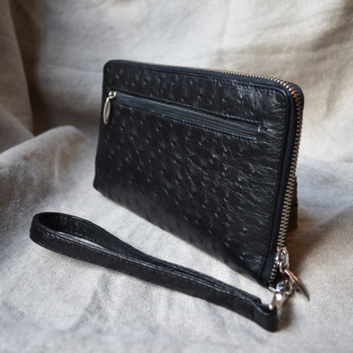 Journey Leather- Genuine Ostrich Leather-Travel Wallet -Made To Order In South Africa