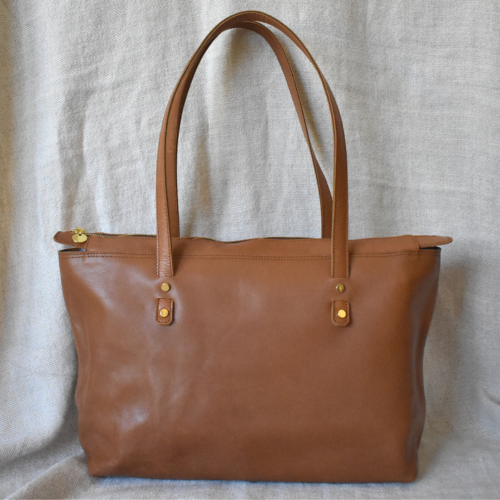 Perfect Zipped Tote Handbag- Genuine leather Made in South Africa with personalisation