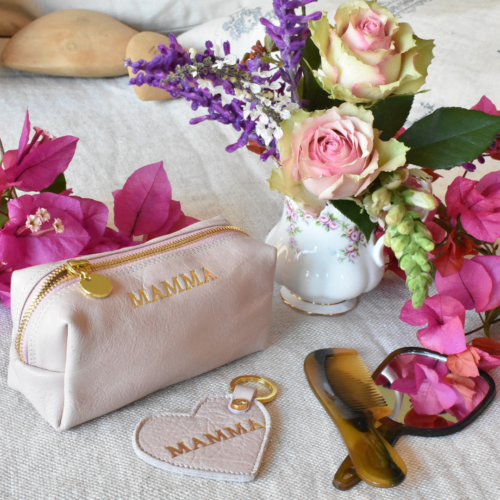 Genuine Leather Cosmetic Bag Gift Bundle- Made in South Africa with Personalisation