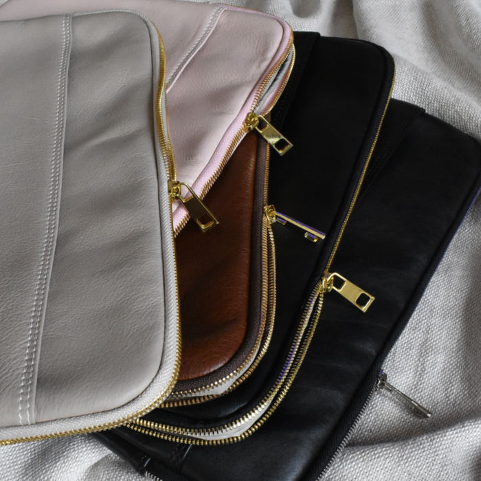 Genuine Leather 13 inch Laptop Macbook sleeve. Hand Crafted in South Africa with personalisation
