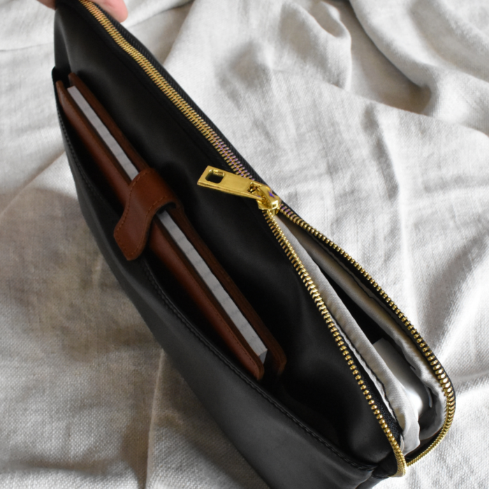 Genuine Leather 13 inch Laptop or Macbook sleeve. Handcrafted in South Africa with personalisation