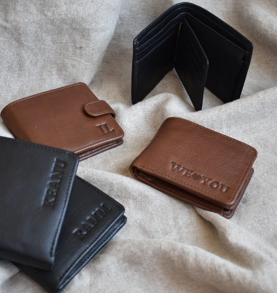 Genuine Leather Bi-Fold Wallet - Made in South Africa with personalisation