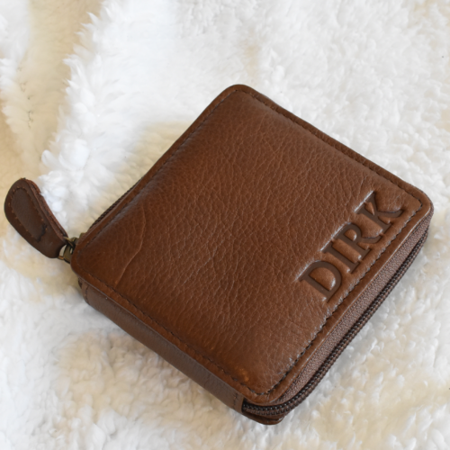 Genuine Leather Bifold wallet with custom personalisation