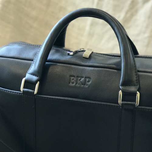 Genuine Leather Computer Bag with custom personalisation
